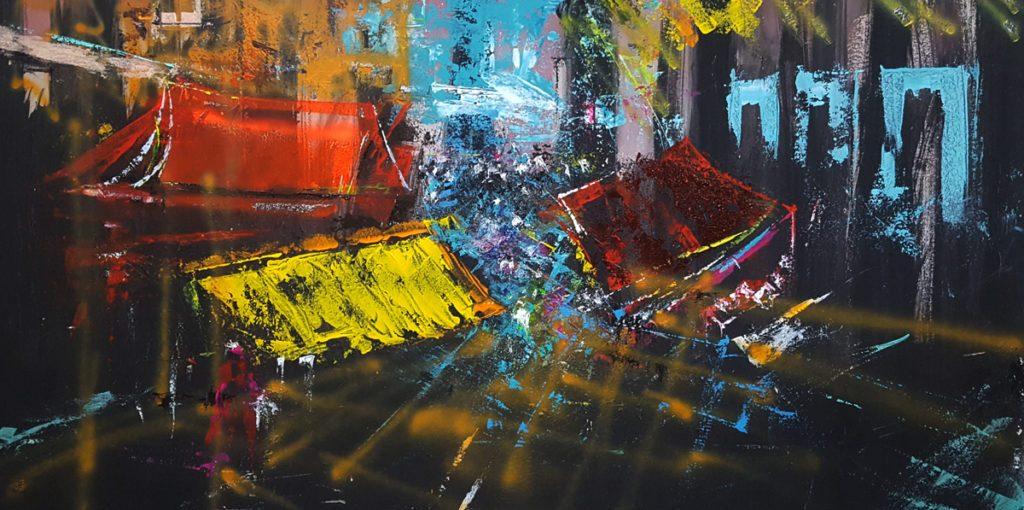 Molto apprezzata al Real Albergo delle Povere la mostra di quadri del maestro Dimitri Salonia